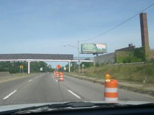 Proposed Clinton River Trail bridge over Telegraph Road in Pontiac