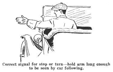 From the Detroit Police Department Traffic Regulations handbook, 1929