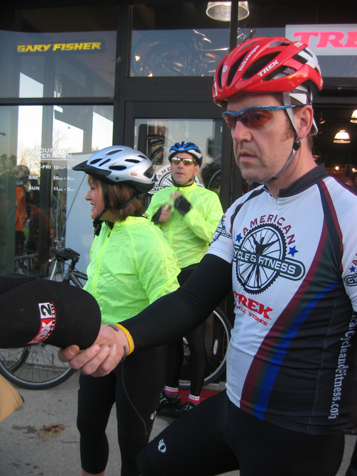 Ride organizers Lila Lazaras, Mike Reuter, and Cullen Watkins (l-to-r)