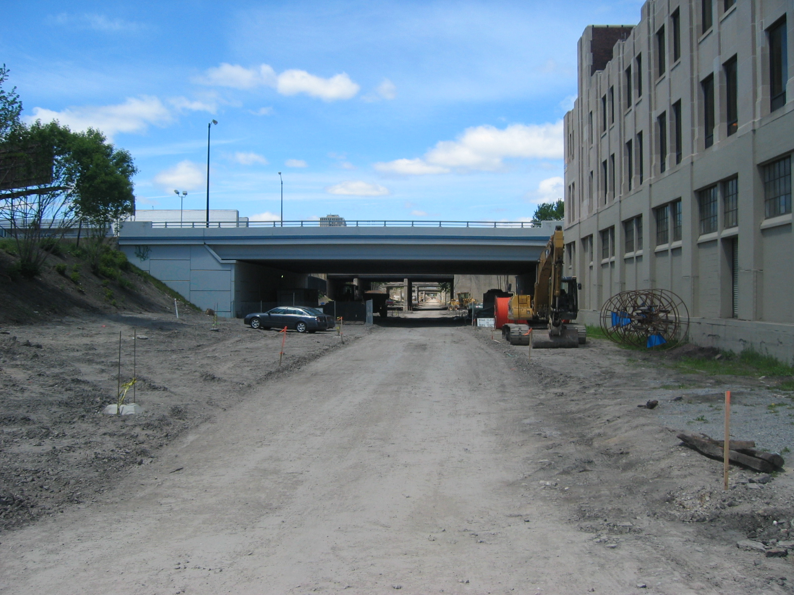 The south end of the Dequindre Cut at Woodbridge