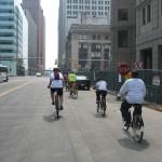 A group bike ride in Detroit