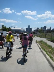 Sue Moretto and Harriet Saperstein ride in Detroit