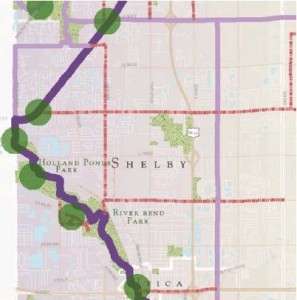 Shelby Township Trail as shown in the Macomb County Trails master plan