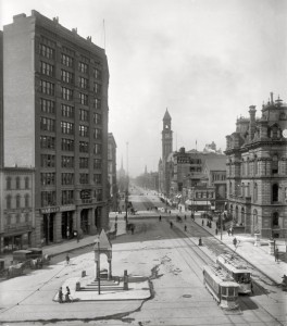 Fort Street in Detroit, 1890