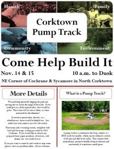 Corktown Pump Track construction