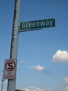 Yes, there is a street named Greenway in Detroit