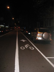 Bike lane in Washington DC