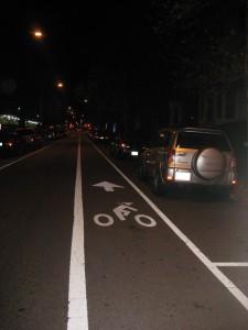 Bike lane in Washington DC