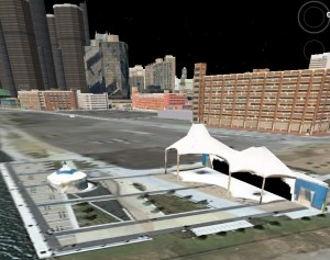 Detroit RiverWalk in Google Earth