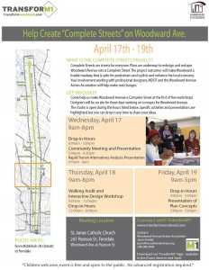 Woodward Complete Streets flyer